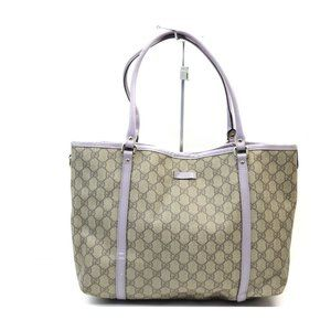 authentic Gucci Tote Bag Light Brown PVC